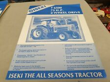 1980s ? ISEKI T6500 2WD 75hp Tractor  New Zealand Sales Leaflet