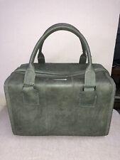 Vintage Samsonite Cordoba Train Travel Carry Case Tote Soft Sided Luggage GREEN