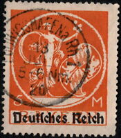 Stamp Germany Reich Mi 136 Sc 273 1920 Bavaria Farewell Series Overprint Used