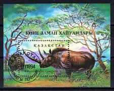 Animaux préhistoriques Kazakhstan (11) bloc oblitéré