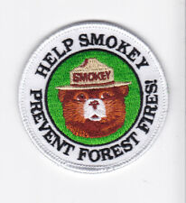 """Smokey the bear embroidered patch """"Help Smokey.. rare collectible patch design"""