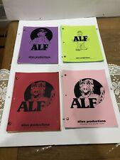 Alf Tv Show Lot Of Four Different Vintage Scripts Rare