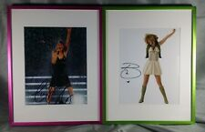 Taylor Swift Bridgit Mendler Signed Framed Photos AUTO with COA's Fearless Tour