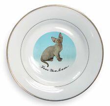 Devon Rex Kitten 'Love You Mum' Gold Rim Plate in Gift Box Christma, AC-175lymPL