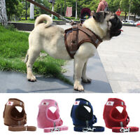 Pet Harness Dog Puppy Mesh Padded Vest Walking Lead Leash for Small Medium Dogs