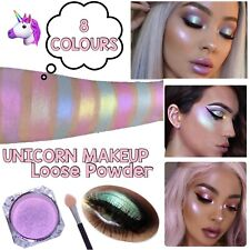 Mermaid Eyeshadow Make up Loose Powder Iridescent Unicorn Aurora Highlighter