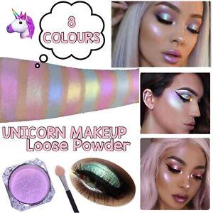 Mermaid Eyeshadow Make up Loose Powder Iridescent Unicorn Aurora Highlighter