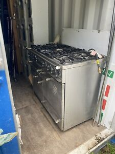 USED NATURAL GAS FALCON 6 BURNER OVEN WITH COOKER COMMERCIAL CATERING