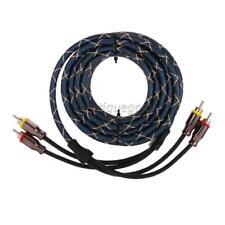 Câble RCA 4.5m Voiture Audio Stéreo Amplificateur Corde de Haut Parleur