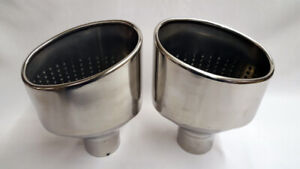 """AUDI RS3 RS4 RS5 RS6 S1 S3 S4 6"""" X 4"""" OVAL DUAL EXHAUST TAILPIPES TIPS"""