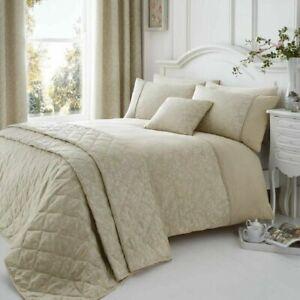 Ebony Duvet Set Natural Luxury Cotton Rich Floral Jacquard SUPER KING QUILT SET