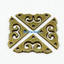 40 Pieces 20mm Antique Brass Jewelry Box Corner Gift Box Corner Protector