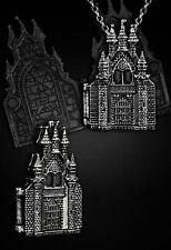 Restyle Halskette Medaillon Schloss Victorian Gothic Lolita Locket Necklace E