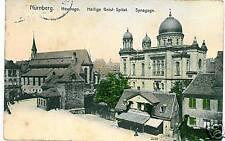 CARTOLINA d'Epoca: JUDAICA postcard : NURNBERG Sinagoge