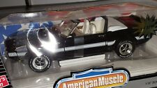 1/18 ERTL AMERICAN MUSCLE 1969 FORD SHELBY GT-500 CONVERTIBLE BLACK od