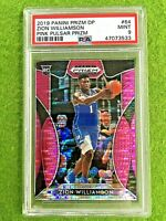 ZION WILLIAMSON PINK PRIZM ROOKIE CARD GRADED PSA 9 MINT PELICANS  2019-20 Prizm