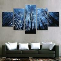 Trees of Stars Forest Nature 5 pcs HD Art Poster Wall Home Decor Canvas Print