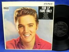 LP ELVIS PRESLEY - FOR LP FANS ONLY // GERMAN RCA