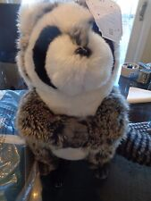 Pottery Barn Teen Faux fur Rocking Plush speaker Raccoon New with tag