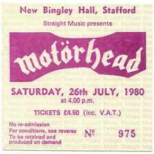 MOTORHEAD ANGEL WITCH SAXON GIRLSCHOOL Concert Ticket Stub 7/26/80 STAFFORD Rare