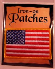 American Flag Embroidered Patch Iron-on US Flag MADE IN USA - NEW