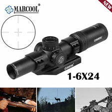 MARCOOL 1-6X24 Rifle Scope 1/5MIL Tactical Hunting Optics Sight Dual Ring Mount