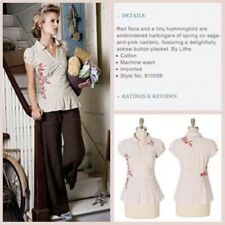 Vintage Anthropologie ~Doolittle Blouse~ Embroidered Shirt Lithe Size 6-8 SMALL