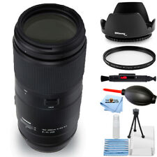 Tamron 100-400mm f/4.5-6.3 Di VC USD Lens for Canon EF Starter UV Filter Bundle