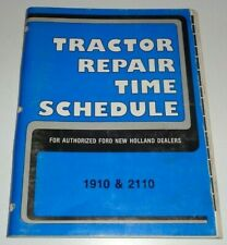 Ford 1910 2110 Tractor Repair Time Schedule Flat Rate Manual Nh Original