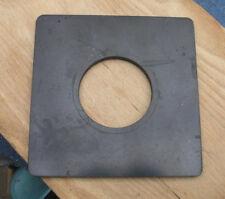 "earlier Devere 10 x 8 enlarger Lens board used 6"" 15cm sq 65.4mm hole"