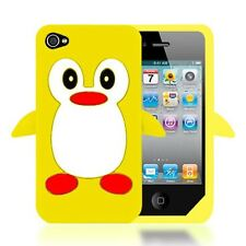 3D CUTE PENGUIN CARTOON SOFT THICK SILICONE CASE COVER FOR APPLE IPHONE 4S / 4
