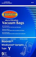 Hoover WindTunnel Upright Type Y Vacuum Bags Microfiltration with Closure - 9 Pa