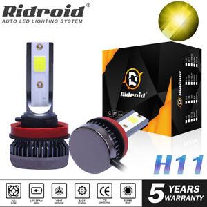 2x H11 H8 H9 LED Car Headlight Fog Light Kit Canbus Error Free 3000K Yellow Bulb