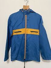 Vintage 70s Sir International Jacket windbreaker blue orange helicopter Medium