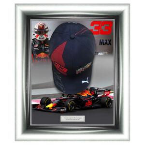 Signed Max Verstappen Cap Framed Aston Martin Red Bull Display -  Formula 1