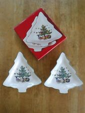 """Nikko Christmastime Two 6"""" candy dishes"""