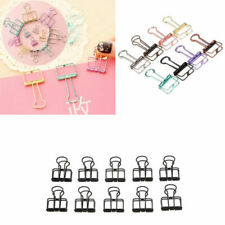 US 10pcs Hallow Binder Clips File Note Paper Photo Organizer Student Stationery