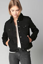 NEW  LEE WOMEN SHERPA  LINED WINTER JACKET  BLACK DENIM JEANS XS/S/M/L