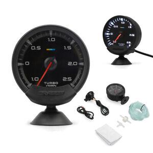 "Universal 12V 2.5"" Car Turbo Boost Gauge Turbocharged Meter 1-2.5Bar White LED"
