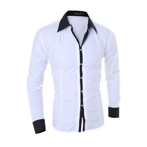 Mens Dress Shirts Long Sleeves Luxury Casual Slim Fit Business Mulitcolor Shirts