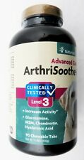 NaturVet Level 3 Arthrisoothe-Gold Advanced Care 90 Dog Tabs Best By 03/2023 New