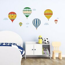Decowall Vintage Hot Air Balloons Kids Removable Wall Stickers Decal DA-1711