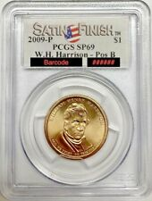2009 P W.H. Harrison Dollar Pos. B PCGS SP69 Satin Finish Registry Coin