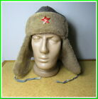 """Military warm Hat """"Ushanka"""" Red Army winter fur hat &  red star~size 58 #299211"""
