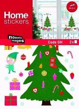 Stickers electrostatiques pour vitres sapin Noel