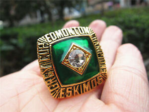 1982 Edmonton Eskimos The 81st Grey Cup TEAM Ring Fan Men Gift