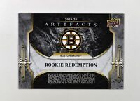 2019-20 UD Artifacts Base RC Redemption #RED183 Boston Bruins