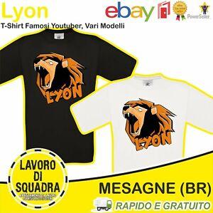 T-Shirt Lyon Youtuber Italia - WhenGamersFail - WGF - Il Vero Leone - Youtube