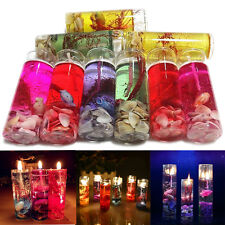 Showy Glass Bottles Ocean Smokeless Jelly Wax Romantic Wedding/Party Gel Candles