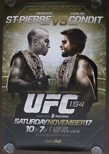 Official UFC 154 LE Georges St.pierre vs Carlos Condit Poster 27x39 (Near Mint)